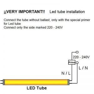 instalacion tubo led