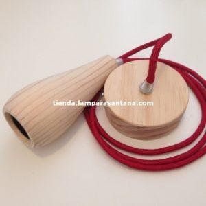 Lampara-colgnte-madera-botella-corta-burdeos