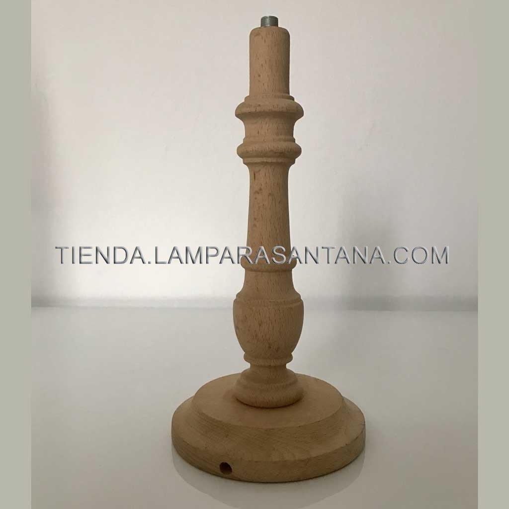 Pie Lampara De Madera Lamparasantana - Lampara-de-madera