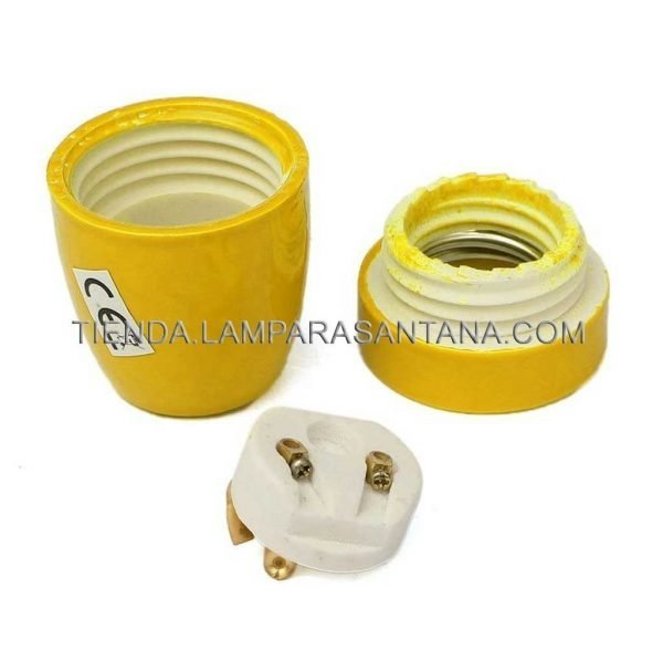 portalamparas ceramica amarillo