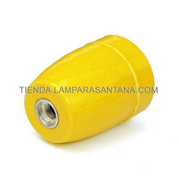 portalamparas ceramico amarillo
