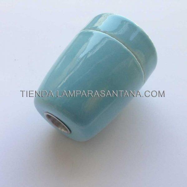 portalamparas ceramica azul