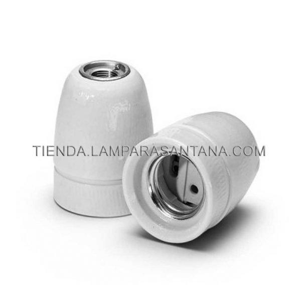 portalamparas ceramica blanco