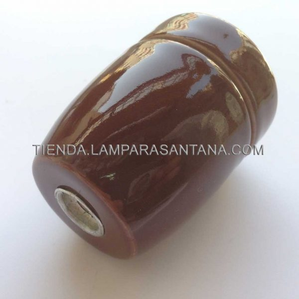 portalamparas ceramico marron