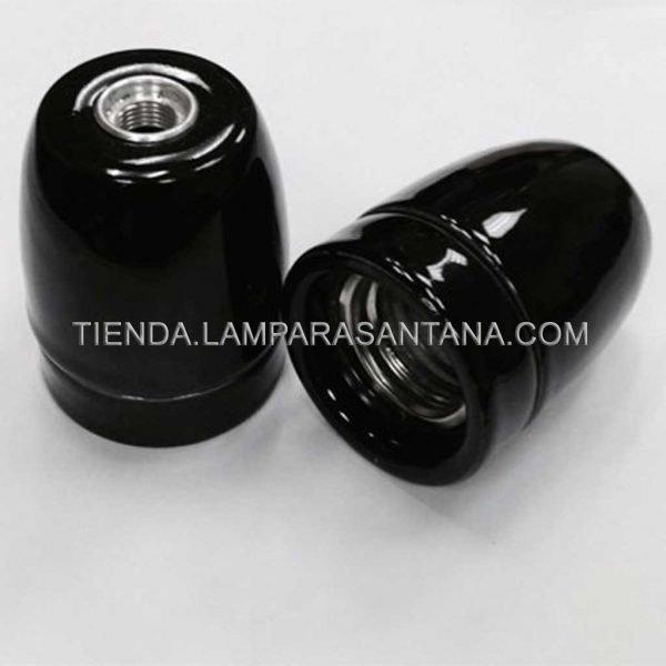 portalamparas ceramica negro