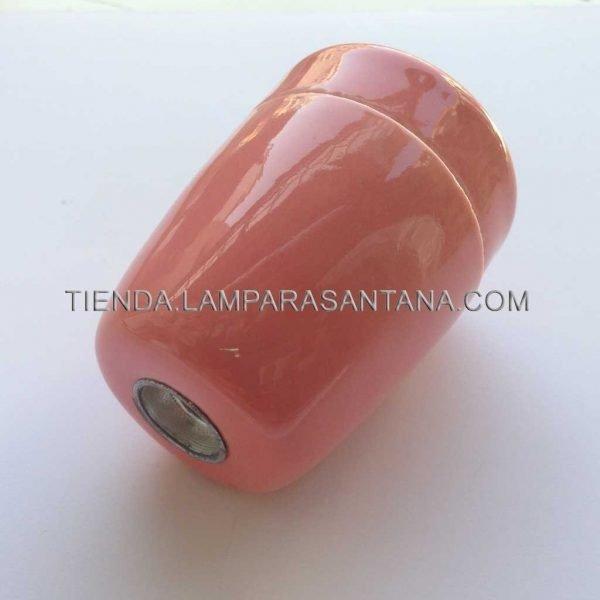 portalamparas ceramico rojizo