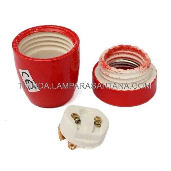 pprtalamparas ceramica rojo