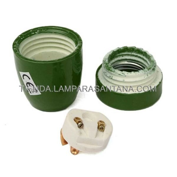 portalamparas ceramica verde