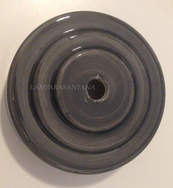 soporte techo ceramica gris