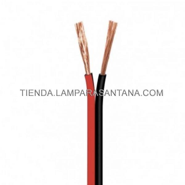 cable paralelo rojo y negro