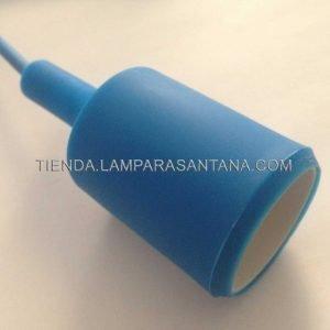 lampara-araña-silicona-azul