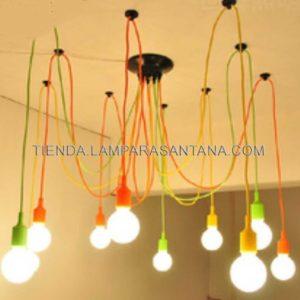 lampara-araña-silicona-multicolor
