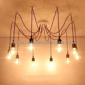 lampara-araña-silicona-negro