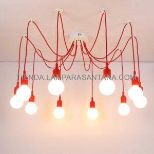 lampara-araña-silicona-rojo