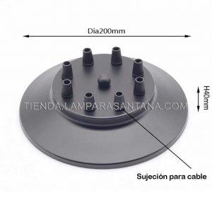 soporte-techo-negro-8-agujeros