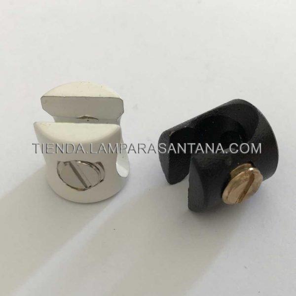 sujecion cable para techo blanco negro