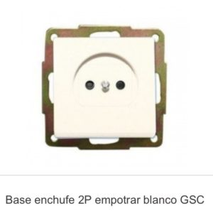 Base enchufe 2p
