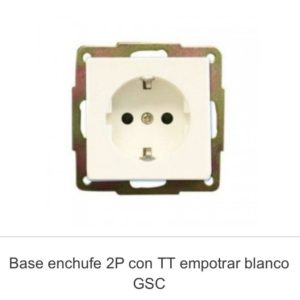Base enchufe TT empotrar gsc