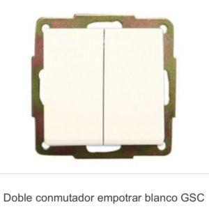 Doble conmutador empotrar gsc