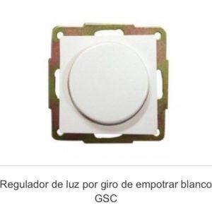Regulador empotrar gsc