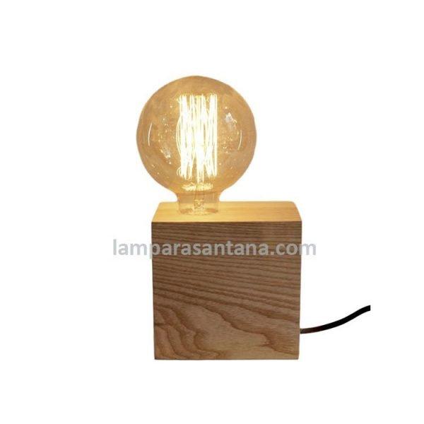 Base madera grande para lámpara