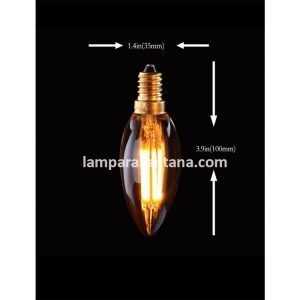 Bombillas vela led vintage gold