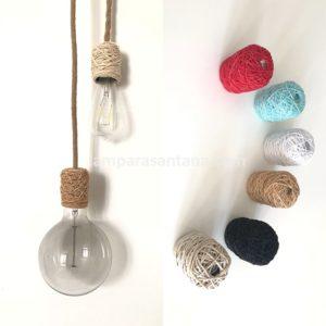 Cubre portalámparas textiles colores