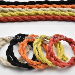 Cable trenzado de cáñamo de colores
