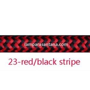 Cable jaspeado rojo y negro