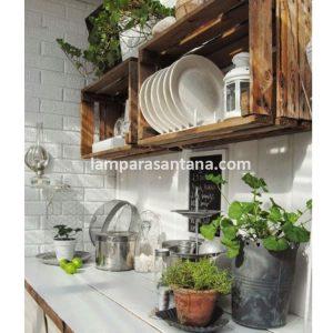 Cajas de fruta madera para decoración