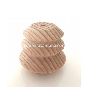 Cubre portalámparas madera modelo pagoda