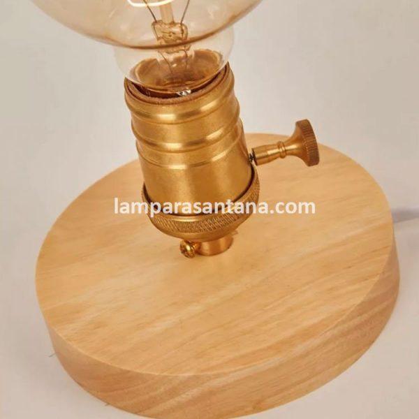 Peana para lámpara roble