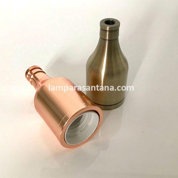 Portalámparas metálicos en forma de botella
