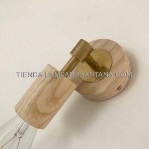 foco fijo de madera