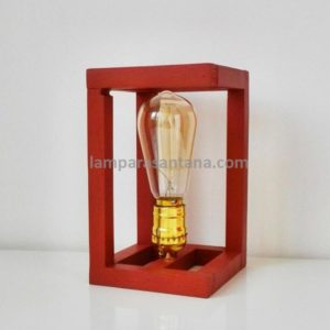 Lámpara de mesa madera temple