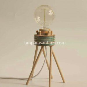 Lámpara de sobremesa madera Sofi