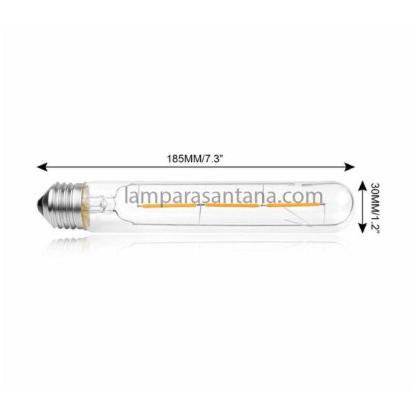 Bombilla filamento led tubular T30