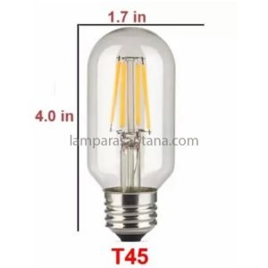 Bombilla filamento led tubular T45