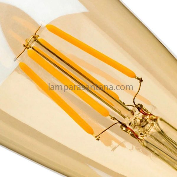 Bombilla filamento led pebetero gold