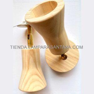 Foco giratorio de madera para empotrar