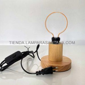 Lámpara base sobremesa madera