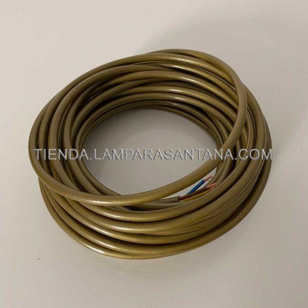 cable eléctrico de silicona dorado 3x0.75
